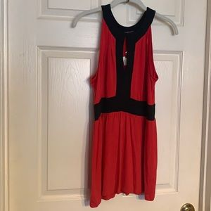 New York Company red/black baby doll top